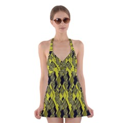 Seamless Pattern Background Seamless Halter Swimsuit Dress