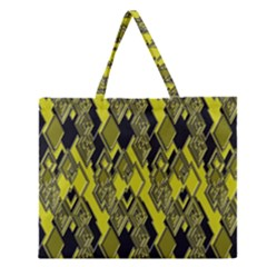 Seamless Pattern Background Seamless Zipper Large Tote Bag