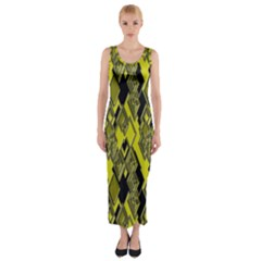 Seamless Pattern Background Seamless Fitted Maxi Dress
