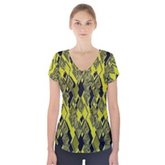 Seamless Pattern Background Seamless Short Sleeve Front Detail Top