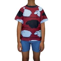 Sheep Kids  Short Sleeve Swimwear