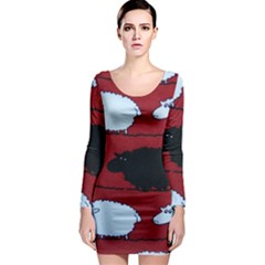 Sheep Long Sleeve Bodycon Dress