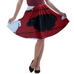Sheep A-line Skater Skirt