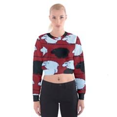 Sheep Women s Cropped Sweatshirt