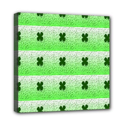 Shamrock Pattern Mini Canvas 8  X 8