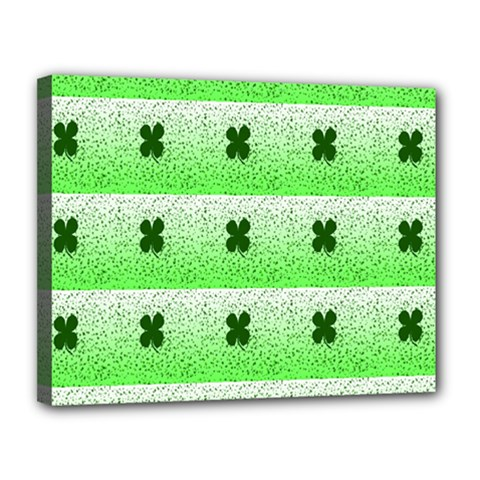 Shamrock Pattern Canvas 14  x 11