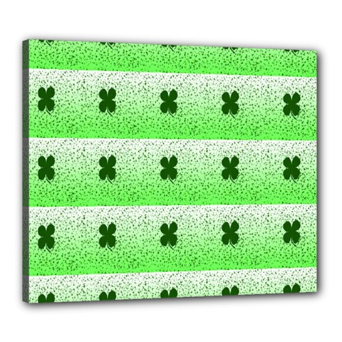 Shamrock Pattern Canvas 24  x 20