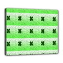 Shamrock Pattern Deluxe Canvas 24  x 20   View1