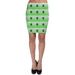 Shamrock Pattern Bodycon Skirt