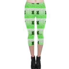 Shamrock Pattern Capri Leggings