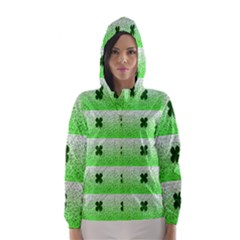 Shamrock Pattern Hooded Wind Breaker (Women)