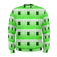 Shamrock Pattern Men s Sweatshirt
