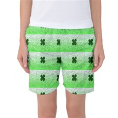 Shamrock Pattern Women s Basketball Shorts