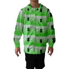 Shamrock Pattern Hooded Wind Breaker (Kids)