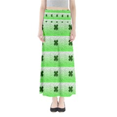 Shamrock Pattern Maxi Skirts