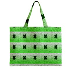 Shamrock Pattern Medium Zipper Tote Bag