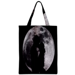 Silhouette Of Lovers Zipper Classic Tote Bag