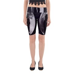 Silhouette Of Lovers Yoga Cropped Leggings