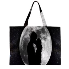 Silhouette Of Lovers Large Tote Bag