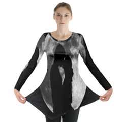 Silhouette Of Lovers Long Sleeve Tunic