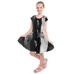Silhouette Of Lovers Kids  Short Sleeve Dress