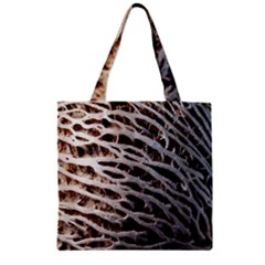 Seed Worn Lines Close Macro Zipper Grocery Tote Bag