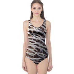 Seed Worn Lines Close Macro One Piece Swimsuit