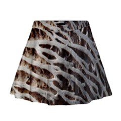 Seed Worn Lines Close Macro Mini Flare Skirt