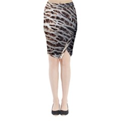 Seed Worn Lines Close Macro Midi Wrap Pencil Skirt