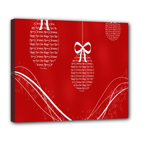 Simple Merry Christmas Deluxe Canvas 24  x 20