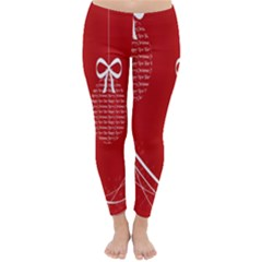 Simple Merry Christmas Classic Winter Leggings