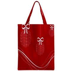 Simple Merry Christmas Zipper Classic Tote Bag