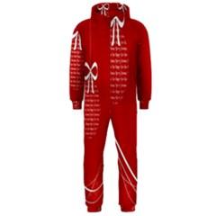 Simple Merry Christmas Hooded Jumpsuit (Men)