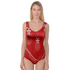 Simple Merry Christmas Princess Tank Leotard