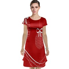 Simple Merry Christmas Cap Sleeve Nightdress