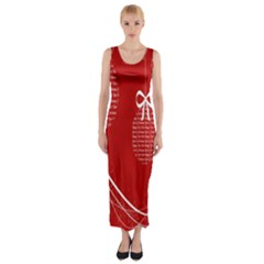 Simple Merry Christmas Fitted Maxi Dress