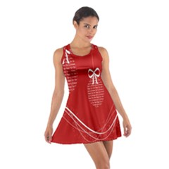 Simple Merry Christmas Cotton Racerback Dress