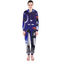 Small Gift For Xmas Christmas Hooded Jumpsuit (ladies)