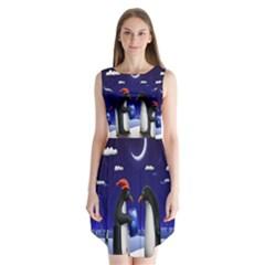 Small Gift For Xmas Christmas Sleeveless Chiffon Dress