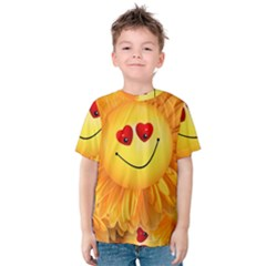 Smiley Joy Heart Love Smile Kids  Cotton Tee
