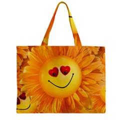 Smiley Joy Heart Love Smile Mini Tote Bag