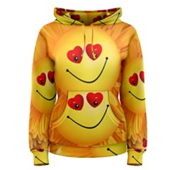 Smiley Joy Heart Love Smile Women s Pullover Hoodie
