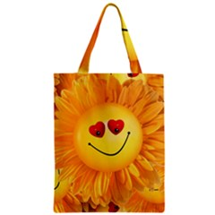 Smiley Joy Heart Love Smile Zipper Classic Tote Bag