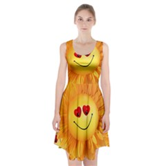 Smiley Joy Heart Love Smile Racerback Midi Dress