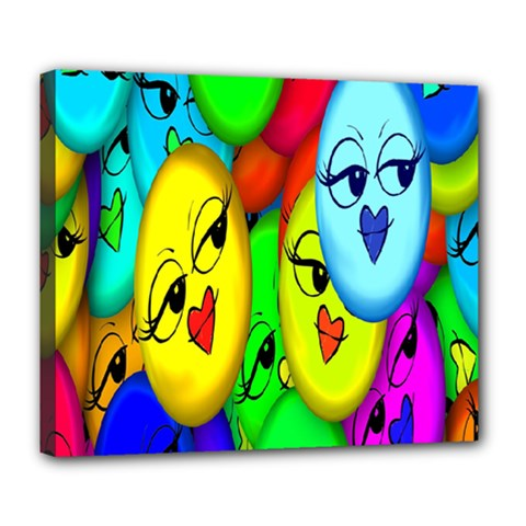 Smiley Girl Lesbian Community Deluxe Canvas 24  x 20