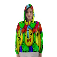 Smiley Girl Lesbian Community Hooded Wind Breaker (women)