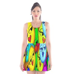 Smiley Girl Lesbian Community Scoop Neck Skater Dress