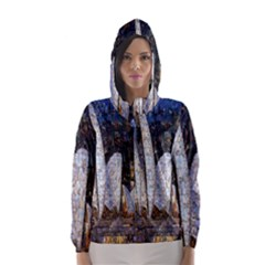 Sidney Travel Wallpaper Hooded Wind Breaker (Women)