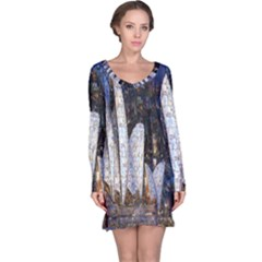 Sidney Travel Wallpaper Long Sleeve Nightdress