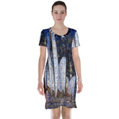 Sidney Travel Wallpaper Short Sleeve Nightdress